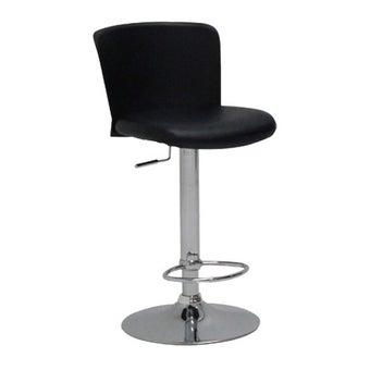 หมอนอิงและสตูล เก้าอี้สตูลบาร์เหล็กเบาะหนัง รุ่น Linas สีสีดำ-SB Design Square