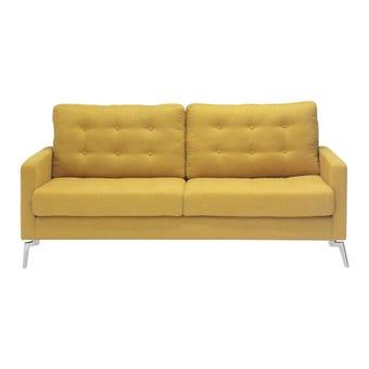 โซฟาผ้า โซฟา 3 ที่นั่ง รุ่น Good สีสีเหลือง-SB Design Square