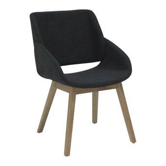 เก้าอี้ทานอาหาร เก้าอี้ไม้เบาะผ้า รุ่น Mitta-SB Design Square