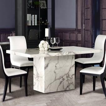 โต๊ะอาหาร รุ่น Flattinum สีขาว01