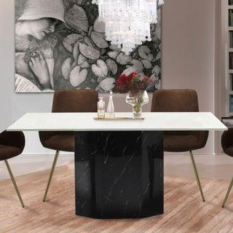 โต๊ะอาหาร รุ่น Fecon สีขาว01