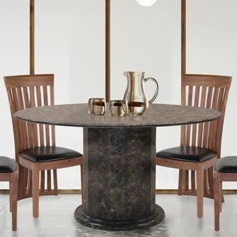 โต๊ะอาหาร รุ่น Firsttinum สีน้ำตาลเข้ม01