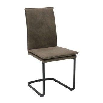 เก้าอี้ทานอาหาร เก้าอี้เหล็กเบาะผ้า รุ่น Tact-SB Design Square