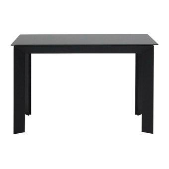 โต๊ะทานอาหาร โต๊ะอาหารขาเหล็กท๊อปกระจก รุ่น Riko-SB Design Square