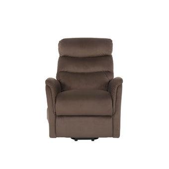 เก้าอี้พักผ่อนผ้า เก้าอี้พักผ่อนปรับระดับไฟฟ้า 1 ที่นั่ง รุ่น Zika สีสีน้ำตาล-SB Design Square