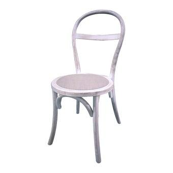 เก้าอี้ทานอาหาร เก้าอี้ไม้เบาะผ้า รุ่น Xuxa สีสีขาว-SB Design Square