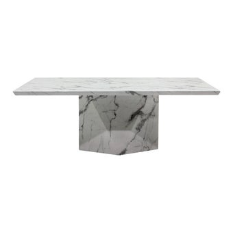โต๊ะทานอาหาร โต๊ะอาหารหินล้วน รุ่น Actory สีสีขาว-SB Design Square