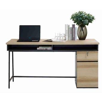 โต๊ะทำงาน ขนาด 150 ซม. รุ่น Worka สีโอ๊ค