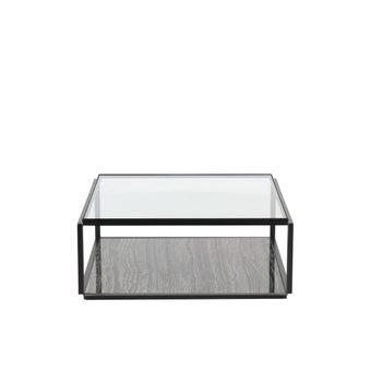 โต๊ะกลาง โต๊ะกลางเหล็กท๊อปกระจก รุ่น Monalis สีสีดำ-SB Design Square
