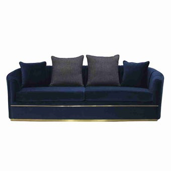 โซฟาผ้า 3 ที่นั่ง Hinslow สีฟ้า-00