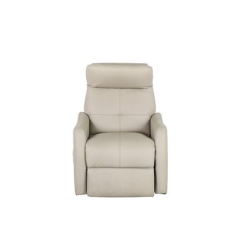 เก้าอี้พักผ่อนหนังแท้ เก้าอี้พักผ่อนปรับระดับไฟฟ้า 1 ที่นั่ง รุ่น Tellan สีสีครีม-SB Design Square