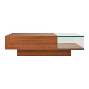 โต๊ะกลาง โต๊ะกลางไม้ท๊อปกระจก รุ่น Akira-SB Design Square