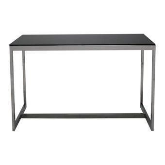 โต๊ะทานอาหาร โต๊ะอาหารขาเหล็กท๊อปกระจก รุ่น Raymond สีสีดำ-SB Design Square