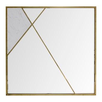 กระจกMR2171/สแตนเลสทอง/หินขาว***