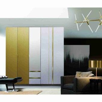 ชุดห้องนอน ตู้เสื้อผ้าบานเปิด รุ่น Aureus สีสีอ่อน-SB Design Square
