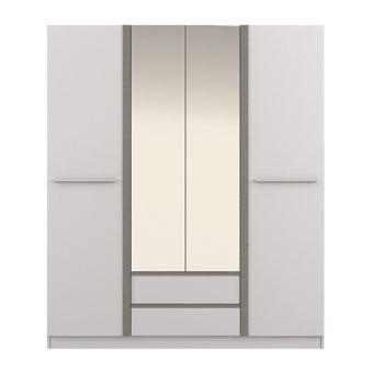 ชุดห้องนอน ตู้เสื้อผ้าบานเปิด รุ่น Ricchi สีสีขาว-SB Design Square