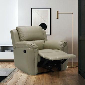 เก้าอี้พักผ่อนหนังสังเคราะห์ เก้าอี้พักผ่อน 1 ที่นั่ง รุ่น Soly สีสีครีม-SB Design Square