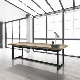 โต๊ะรุ่น Jobbs สีอ่อนลายไม้ธรรมชาติ