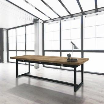 โต๊ะรุ่น Jobbs สีเข้มลายไม้ธรรมชาติ