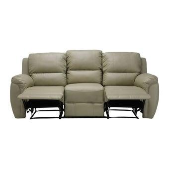 เก้าอี้พักผ่อนหนังสังเคราะห์ เก้าอี้พักผ่อน 3 ที่นั่ง รุ่น Soly สีสีครีม-SB Design Square