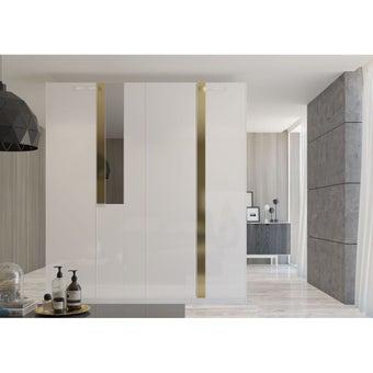 ชุดห้องนอน ตู้เสื้อผ้าบานเปิด รุ่น Glaze สีสีขาว-SB Design Square