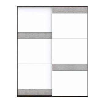 ชุดห้องนอน ตู้เสื้อผ้าบานเลื่อน รุ่น Palazzo สีสีเข้มลายไม้ธรรมชาติ-SB Design Square