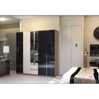 ตู้เสื้อผ้า ขนาด 225 ซม. รุ่น Aureus สีดำ3
