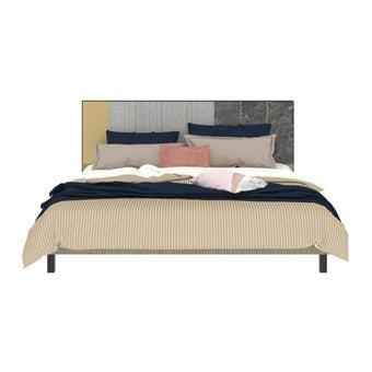 เตียงนอน ขนาด 6 ฟุต รุ่น Aureus สีเทา1