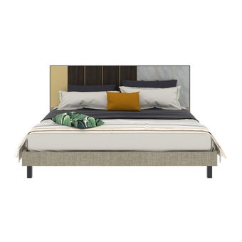 เตียงนอน ขนาด 6 ฟุต รุ่น Aureus สีขาว1