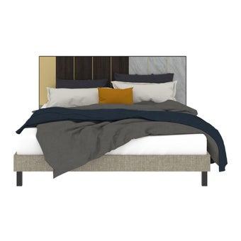เตียงนอน ขนาด 5 ฟุต รุ่น Aureus สีขาว1