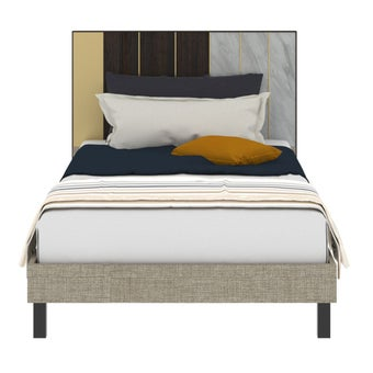 เตียงนอน ขนาด 3.5 ฟุต รุ่น Aureus สีขาว1
