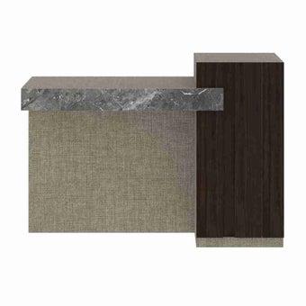 ชุดห้องนอน โต๊ะเครื่องแป้งแบบนั่ง รุ่น Aureus สีสีอ่อน-SB Design Square