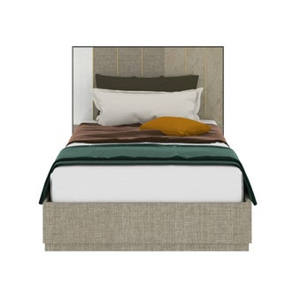 เตียงนอน ขนาด 3.5 ฟุต รุ่น Aureus สีครีม1