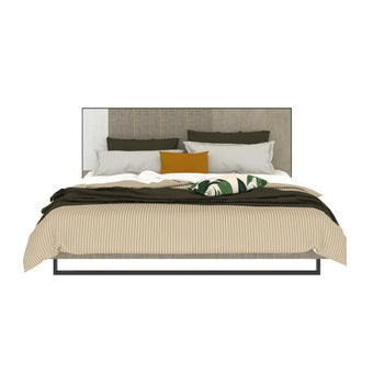 เตียงนอน ขนาด 6 ฟุต รุ่น Aureus สีครีม1