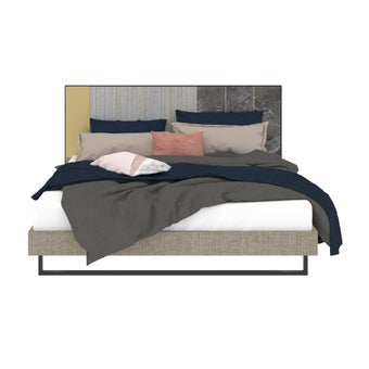 เตียงนอน ขนาด 5 ฟุต รุ่น Aureus สีเทา1