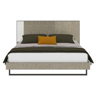 เตียงนอน ขนาด 5 ฟุต รุ่น Aureus สีครีม1