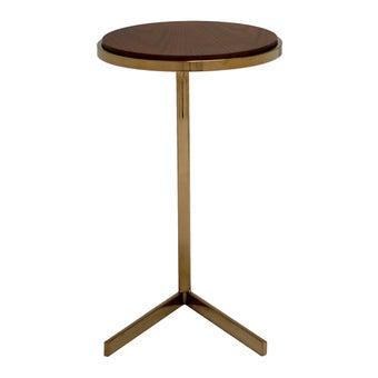โต๊ะข้าง โต๊ะข้างเหล็กท๊อปไม้ รุ่น Daley สีสีลายไม้ธรรมชาติ-SB Design Square