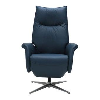 เก้าอี้พักผ่อนหนังแท้ เก้าอี้พักผ่อน 1 ที่นั่ง รุ่น Carmo สีสีฟ้า-SB Design Square