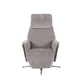 เก้าอี้พักผ่อนผ้า เก้าอี้พักผ่อนปรับระดับไฟฟ้า 1 ที่นั่ง รุ่น Carolyn สีสีเทา-SB Design Square