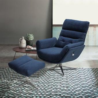 เก้าอี้พักผ่อน ขนาดเล็กกว่า 1.8 ม. รุ่น Charley สีฟ้า 08