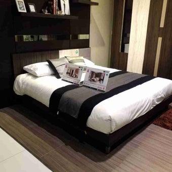 ชุดห้องนอน เตียง รุ่น Econi-B สีสีเข้มลายไม้ธรรมชาติ-SB Design Square
