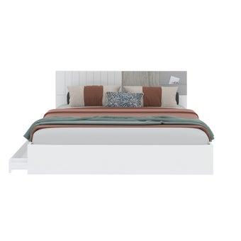 เตียงนอน ขนาด 6 ฟุต รุ่น Econi-b สีขาว
