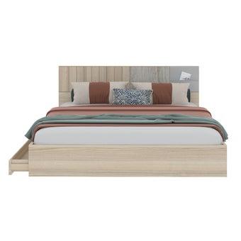 เตียงนอน ขนาด 6 ฟุต รุ่น Econi-b สีโอ๊ค-00