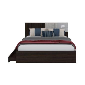 เตียงนอน ขนาด 5 ฟุต รุ่น Econi-b สีไม้เข้ม-00