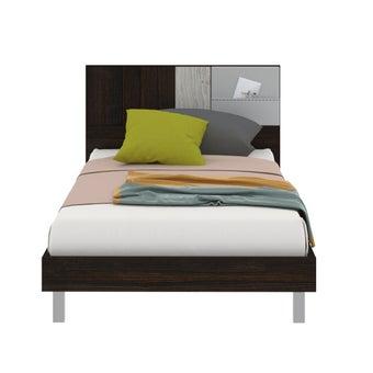 เตียงนอน ขนาด 3.5 ฟุต รุ่น Econi-b สีไม้เข้ม-00