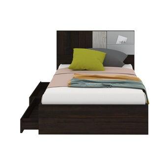 เตียงนอน ขนาด 3.5 ฟุต รุ่น Econi-b สีไม้เข้ม
