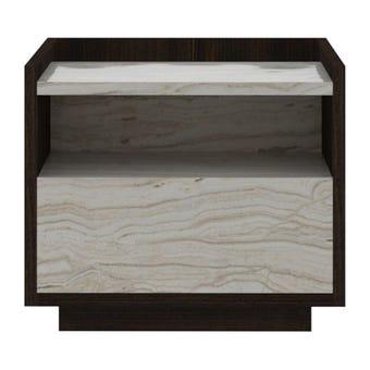 ชุดห้องนอน ตู้ข้างเตียง รุ่น Econi-B สีสีเข้มลายไม้ธรรมชาติ-SB Design Square