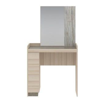 ชุดห้องนอน โต๊ะเครื่องแป้งแบบนั่ง รุ่น Econi-B สีสีโอ๊คอ่อน-SB Design Square