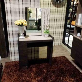 ชุดห้องนอน โต๊ะเครื่องแป้งแบบนั่ง รุ่น Econi-B สีสีเข้มลายไม้ธรรมชาติ-SB Design Square
