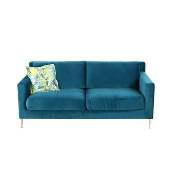 โซฟาผ้า โซฟา 3 ที่นั่ง รุ่น Perra สีสีเขียว-SB Design Square
